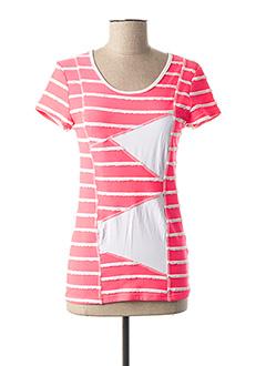T-shirt manches courtes rose MULTIPLES pour femme