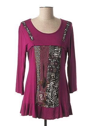 Tunique manches longues violet MULTIPLES pour femme