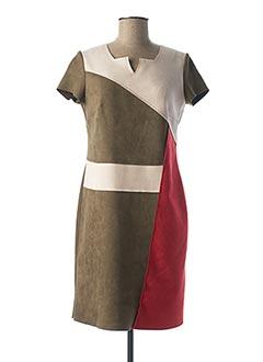 Robe mi-longue vert MULTIPLES pour femme