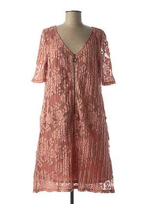 Robe mi-longue rose MULTIPLES pour femme