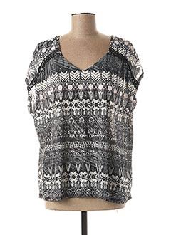 T-shirt manches courtes gris MULTIPLES pour femme