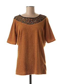 Top marron MULTIPLES pour femme