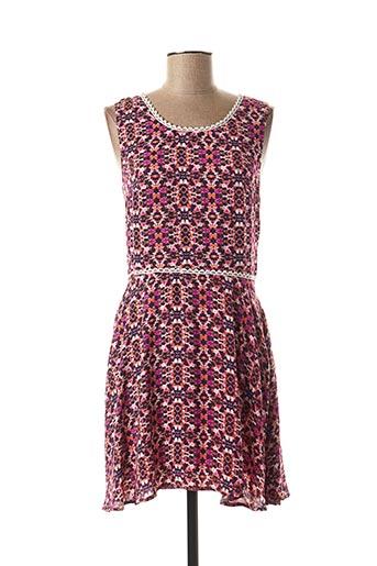 Robe courte rose MULTIPLES pour femme