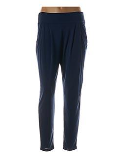 Pantalon 7/8 bleu ELEONORA AMADEI pour femme