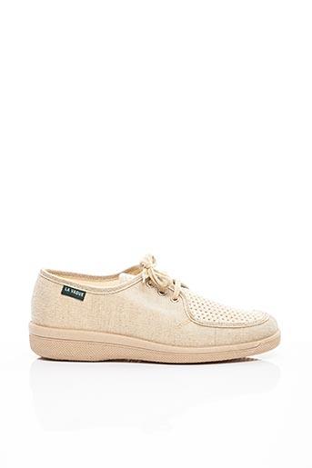 Chaussons/Pantoufles beige LA VAGUE pour homme