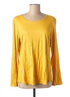 T-shirt manches longues jaune VIE NOCTURNE pour femme