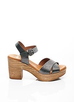 Sandales/Nu pieds gris AMELIE BY MESS pour femme