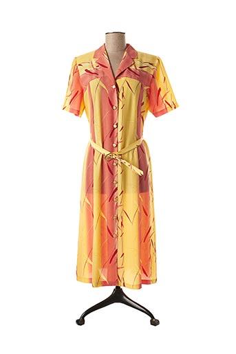 Robe mi-longue jaune JEAN DELFIN pour femme