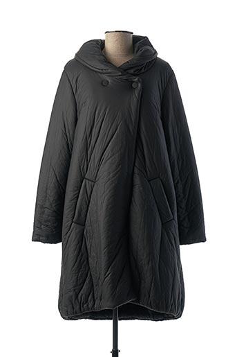 Manteau long noir GR NATURE pour femme