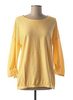 T-shirt manches longues jaune CECIL pour femme