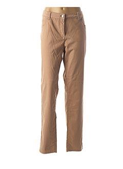 Pantalon casual rose BRANDTEX pour femme