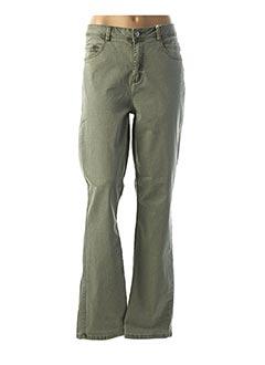 Pantalon casual vert STREET ONE pour femme