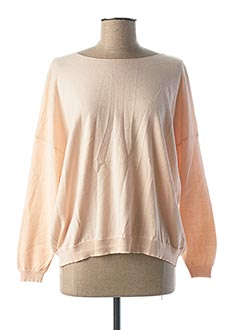 Pull col rond rose AN' GE pour femme
