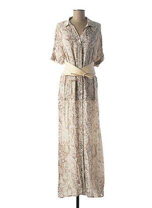 Robe longue beige FRACOMINA pour femme