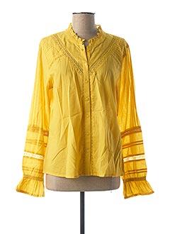 Chemisier manches longues jaune CREAM pour femme