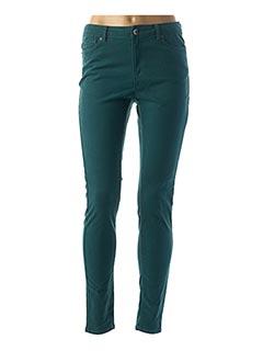 Pantalon casual vert VERO MODA pour femme
