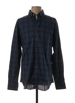 Chemise manches longues bleu FYNCH-HATTON pour homme
