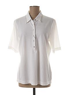 Polo manches courtes blanc ERFO pour femme