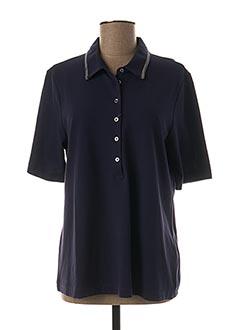 Polo manches courtes bleu ERFO pour femme