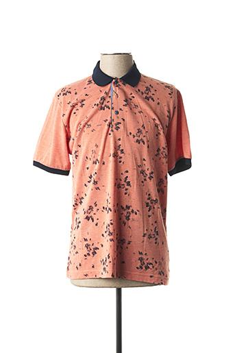 Polo manches courtes orange GIORGIO BELLINI pour homme