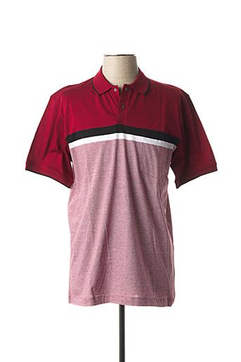 Polo manches courtes rouge GIORGIO BELLINI pour homme