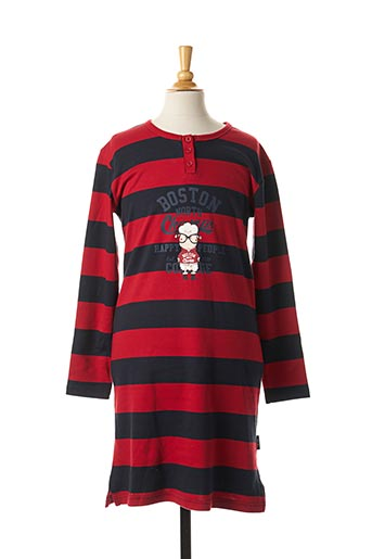 Chemise de nuit rouge HAPPY PEOPLE pour fille