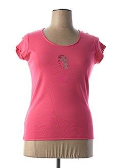 T-shirt manches courtes rose DIPLODOCUS pour femme