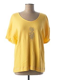 Sweat-shirt jaune DIPLODOCUS pour femme