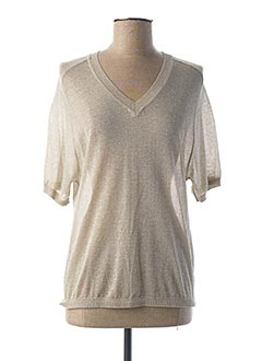 Pull col V gris LA FEE MARABOUTEE pour femme