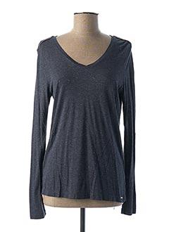 T-shirt manches longues bleu IKKS pour femme