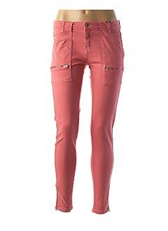 Pantalon 7/8 rose IKKS pour femme