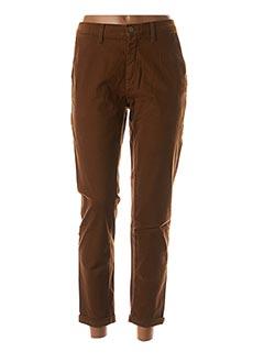 Pantalon casual marron LCDN pour femme