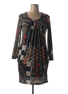Robe mi-longue noir EROKE pour femme