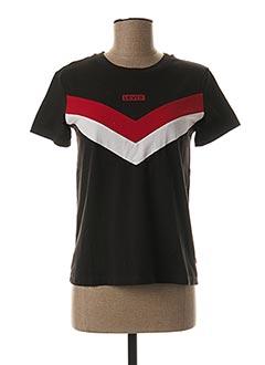 T-shirt manches courtes noir LEVIS pour femme