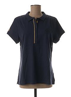 Polo manches courtes bleu BLACK WELLIS pour femme