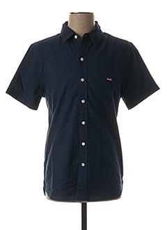 Chemise manches courtes bleu LEVIS pour homme