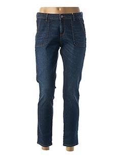 Pantalon 7/8 bleu KANOPE pour femme