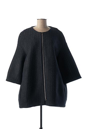 Manteau court bleu ANNA SERAVALLI pour femme