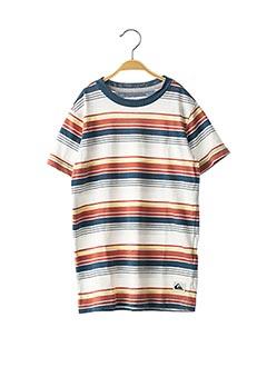 T-shirt manches courtes bleu QUIKSILVER pour garçon