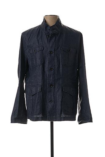 Veste en jean bleu BRUNO SAINT HILAIRE pour homme