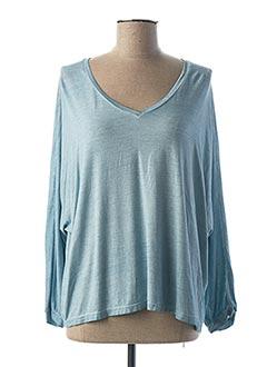 T-shirt manches longues bleu PAKO LITTO pour femme