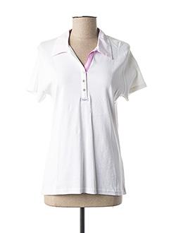 Polo manches courtes blanc SABLE ET MER pour femme