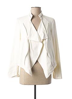 Veste casual blanc CHARMING GIRL pour femme