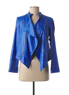 Veste casual bleu CHARMING GIRL pour femme
