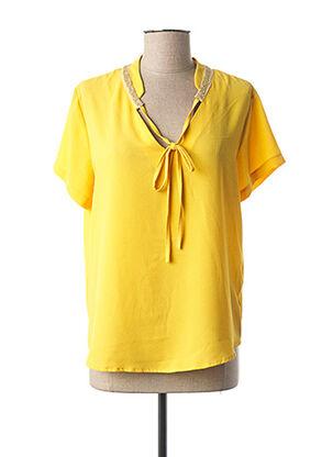 Top jaune EMA BLUE'S pour femme