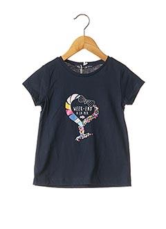 T-shirt manches courtes bleu WEEK END A LA MER pour fille
