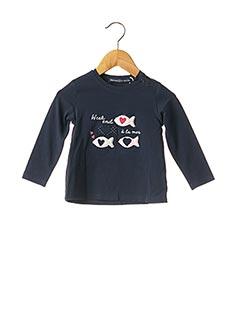 T-shirt manches longues bleu WEEK END A LA MER pour fille