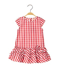 Robe mi-longue rouge BABY BOL pour fille