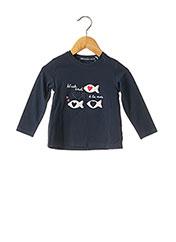 T-shirt manches longues bleu WEEK END A LA MER pour fille seconde vue