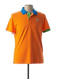 Polo manches courtes orange NORTH SAILS pour homme